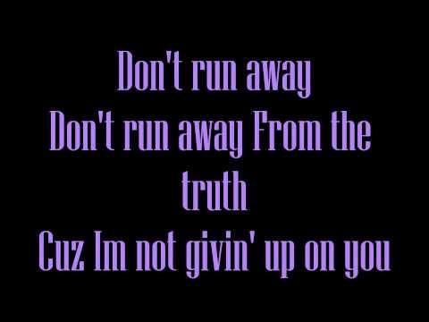Don't run away Lyrics [Let It Shine]
