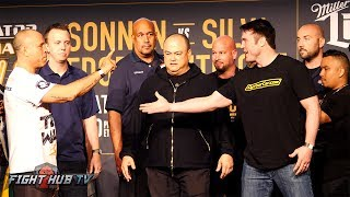 THE BAD GUY RETURNS! Chael Sonnen vs  Wanderlei Silva FULL WEIGH IN & FACE OFF VIDEO