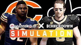 New Orleans Saints vs. Chicago Bears Week 8 Full Game | Madden 2020 Season Simulation