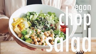 Vegan Chop Salad: Bridal Bootcamp Collaboration