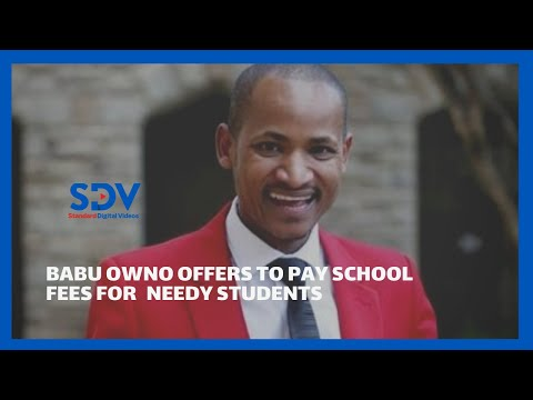 Don't be worried about school fees' Babu Owino offers to pay school fees for needy students
