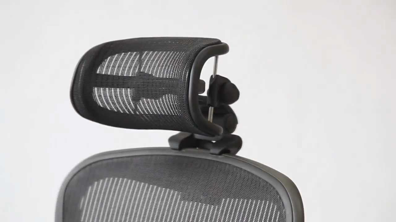 Positioning Headrest For Herman Miller Aeron Chair Youtube