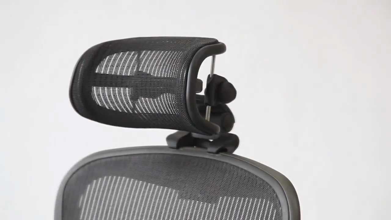 Positioning  Headrest for Herman Miller Aeron Chair  YouTube