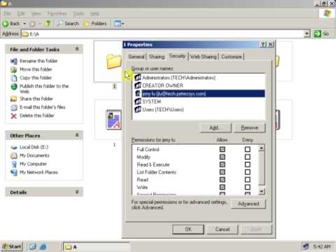 16 How inheritance affects file and folder permissions in Windows Server 2003