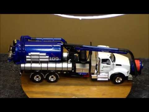 Truck with a vactor
