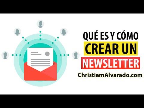 Qué es y Cómo Crear un Newsletter - ChristiamAlvarado.com
