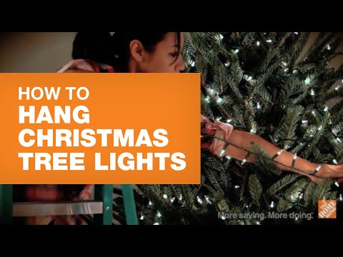 how to hang christmas tree lights - Best Way To Put Christmas Lights On Tree