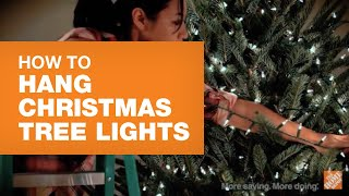 How To Hang Christmas Tree Lights