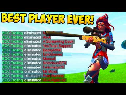 NEW *BEST PLAYER* IN THE WORLD! - Fortnite Funny Fails and W