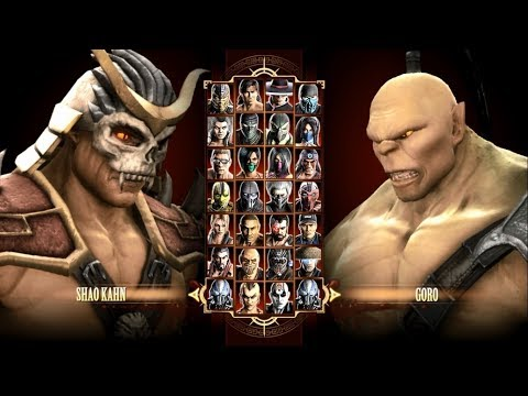 How To Unlock Shao Kahn, Goro and Kintaro In Mortal Kombat Komplete Edition!