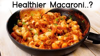 Stuffed Macaroni - Healthier Indian Style Veg Pasta Recipes for Kids Lunch Box - CookingShooking