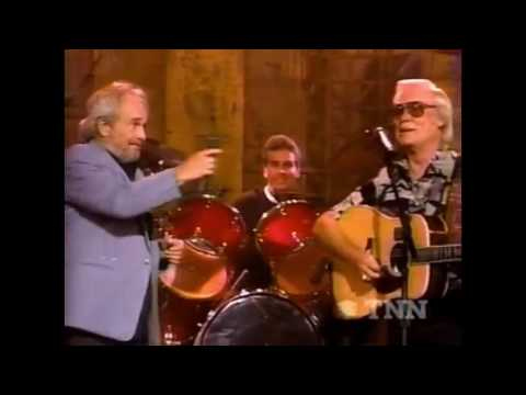George Jones And Merle Haggard Live (The Way I Am, Yesterday's Wine, & I Must Have Done Something)