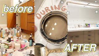 DIY Bathroom Transformation (under $100!) + Organizing ALL my products!