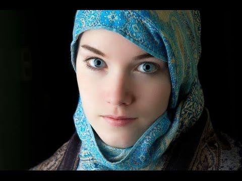 Gadis eropa cantik muslimah suara  sangat merdu nan indah