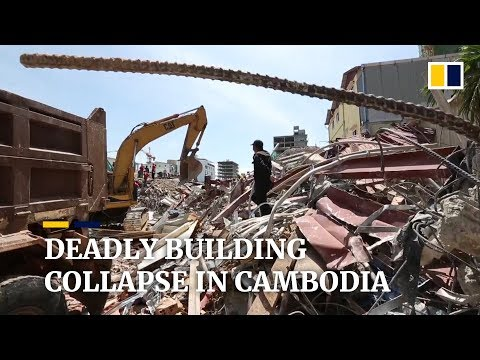 Death toll rises after collapse of China-owned building in Cambodia