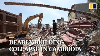 death toll rises after collapse of china owned building in cambodia