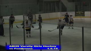 Acton Boxborough Girls Ice Hockey Fontbonne 1/5/15