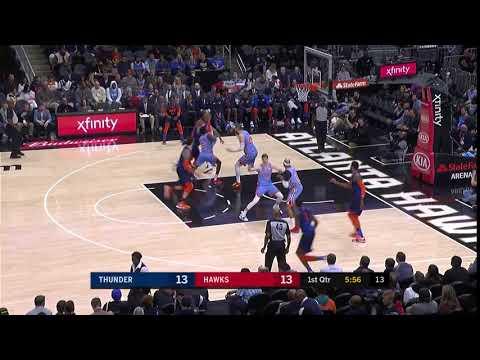 1st Quarter, One Box Video: Atlanta Hawks vs. Oklahoma City Thunder