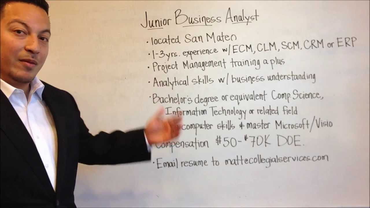 Now Hiring: Junior Business Analyst - YouTube