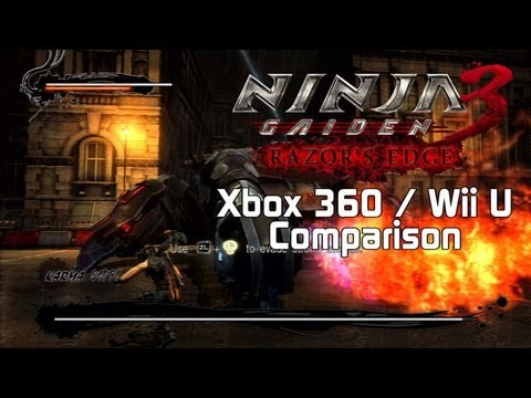 Ninja Gaiden Iii Razor S Edge Xbox 360 Wii U Comparison Youtube