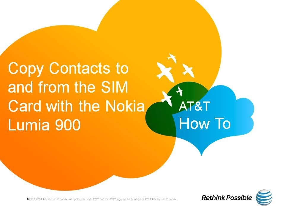Copy Contacts to and from the SIM Card with the Nokia Lumia 900: AT&T How  To Video Series