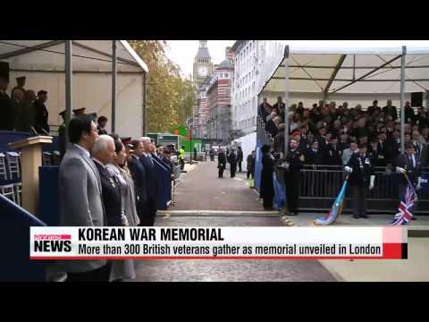 More than 300 British veterans gather as Korean War memorial unveiled in London