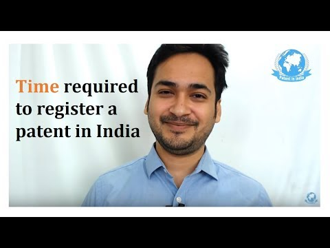 how much time does it take to get a patent in india video by Prasad Karhad