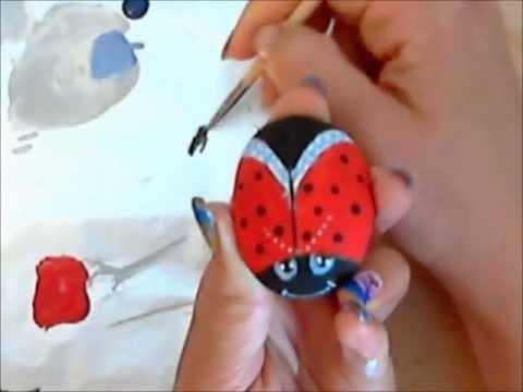 Come dipingere coccinella sul sasso corso di pittura per - Disegni di coniglietti per bambini ...