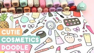 Cutie Cosmetics Doodle - Kawaii Coloring Fun! ~ KiraKiraDoodles