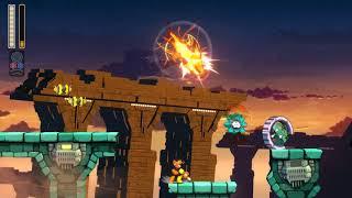 Qttsix|Mega Man 11 - Block's Man Stage w/ W tank (Speedrun route)