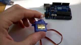 видео Как подключить сервопривод к Ардуино. Пример использования сервопривода SG90