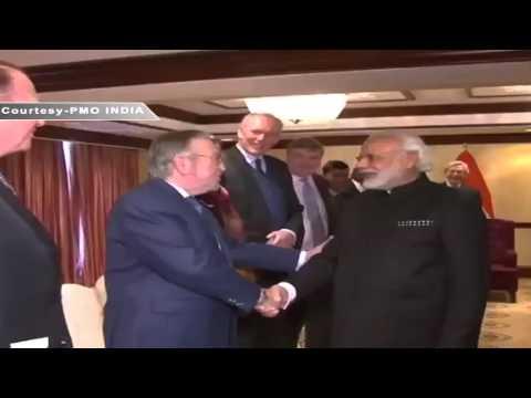 PM Shri Narendra Modi meets MPs of Belgian Parliament & European Parliament