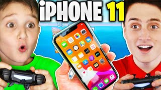 KID GETS iPHONE 11 IF BEATS ME IN DEATHRACE!!! - Fortnite 1V1 Challenge