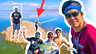 STRANDED ISLAND Fishing CHALLENGE in MEXICO!! ( 1v1v1 )