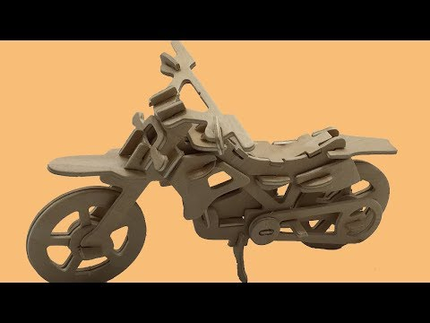 DIY 3D Wooden Puzzle CROSS COUNTRY MOTORCYCLE #2