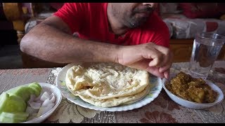 Eating show with sound | eating tundul ruti and mutton curry with s...