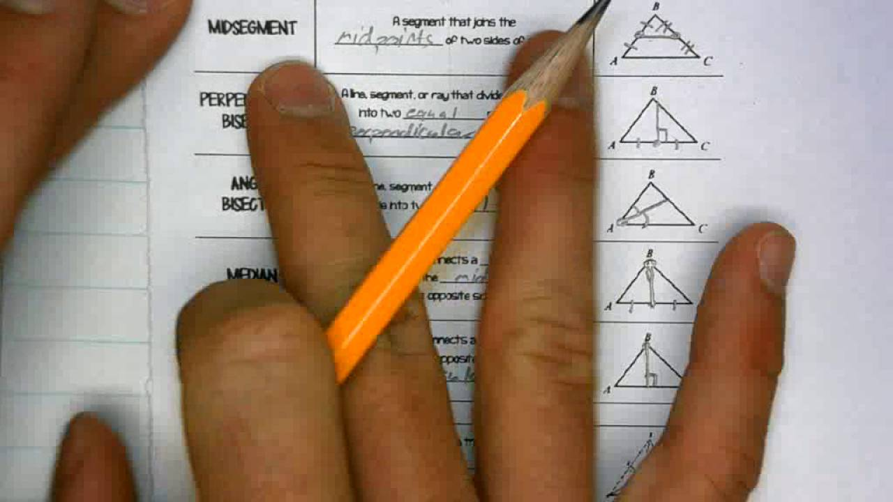 worksheet Special Segments In Triangles Worksheet special segments and triangle centers youtube centers