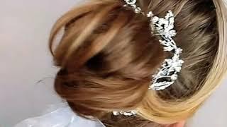 Fryzura slubna makijaz ślubny kok upięcie