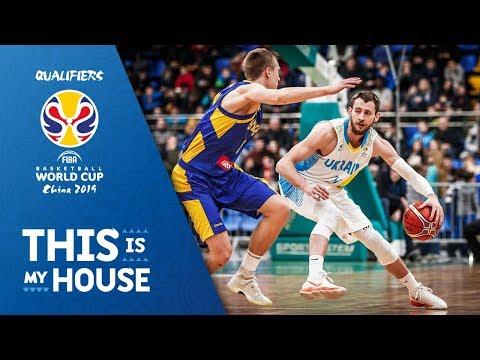 Ukraine v Sweden - Full Game - FIBA Basketball World Cup 2019 - European Qualifiers