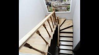 Деревянные лестницы гусиный шаг(Изготовление и монтаж деревянных лестниц под ключ в Днепропетровске! Лестницы малогабаритные гусиный..., 2013-07-14T13:23:51.000Z)