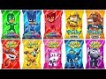 Pj Masks, Super Wings and Paw Patrol Toys, Learn Colors with Wrong Heads