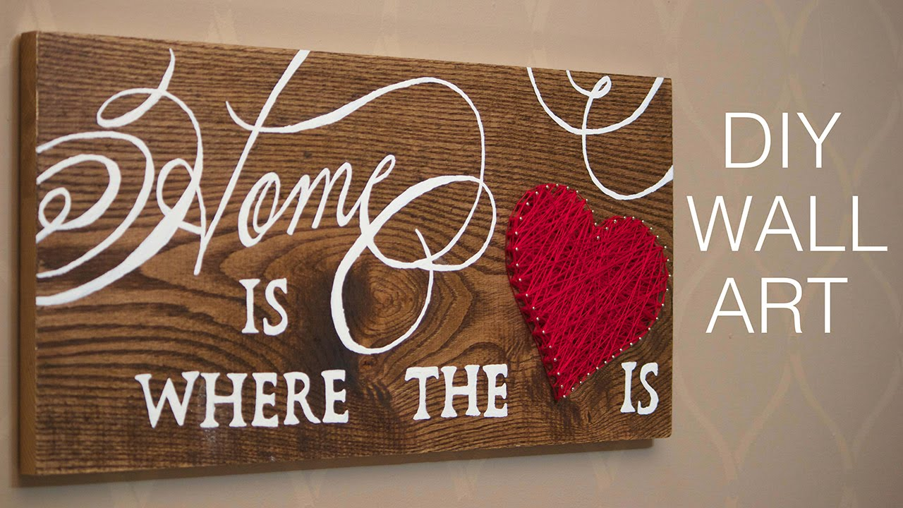 Diy wall art home decor project youtube for Decoration word