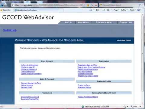 Welcome to WebAdvisor