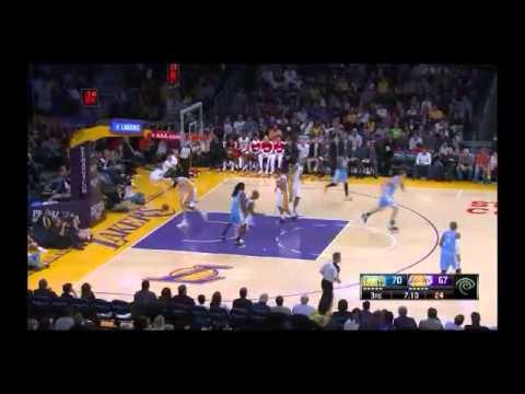 NBA CIRCLE - Denver Nuggets Vs LA Lakers Highlights 5 Jan. 2014 www.nbacircle.com