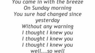 No Doubt Sunday morning lyrics