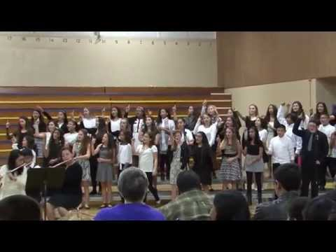 1-21-15 NJHS Newark Junior High School Combined Groups - It's Time by Imagine Dragons Close View