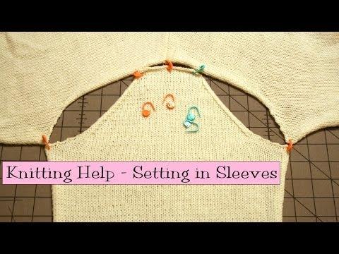 Knitting Help - Setting in Sleeves