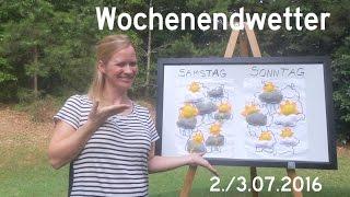 Das Deutschland-Wetter am ersten Juli-Wochenende 2016 - Samstag Unwetter im Südosten möglich