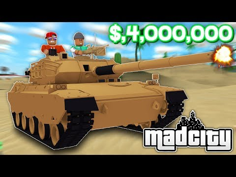 BUYING THE *NEW* $4,000,000 RHINO TANK IN ROBLOX MAD CITY!! (Roblox Livestream)
