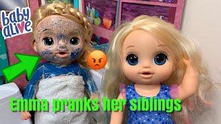 Baby Alive Emma Pranks Her Siblings baby alive videos